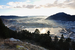 View of Norwegian fjord. Stock Photography