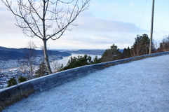 View of Norwegian fjord. Royalty Free Stock Image