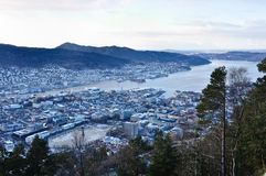 View of Norwegian fjord. Royalty Free Stock Images