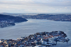 View of Norwegian fjord. Stock Images