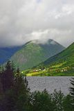 View of the norwegian fjord coast Stock Images