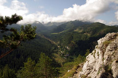 View from Nosal. Tatra,  Poland. Royalty Free Stock Photography