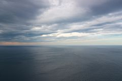 View of nothingness in Arctic ocean from North Cape Royalty Free Stock Photography