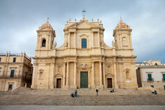 View of Noto baroque town, in Sicily Royalty Free Stock Photo