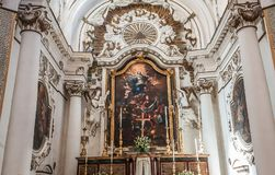Santa Chiara church, Noto, sicily, Italy Royalty Free Stock Photography