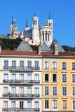 View of Notre Dame de Fourviere Stock Photos