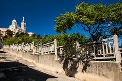 View of Notre-Dame de la Garde basilica in Marseille Stock Photo