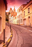 View of Notre Dame de la Garde in the evening at sunset. The Fre Royalty Free Stock Photography
