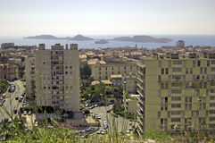 View from Notre-Dame de la Garde on Marseille Stock Image