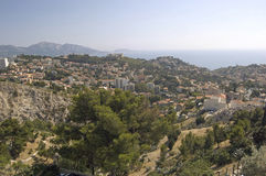 View from Notre-Dame de la Garde on Marseille. View from Notre-Dame de la Garde in Marseille stock images