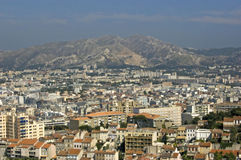View from Notre-Dame de la Garde on Marseille. View from Notre-Dame de la Garde in Marseille Royalty Free Stock Photos