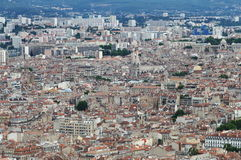 View from Notre Dame de la Garde upon Marseille city, France Royalty Free Stock Photography