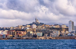 View of the Notre-Dame de la Garde in Marseille Royalty Free Stock Images