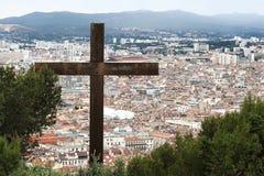View from Notre Dame de la Garde upon Marseille, France Stock Photos