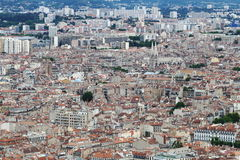 View from Notre Dame de la Garde at Marseille town, France Royalty Free Stock Image