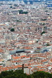 View from Notre Dame de la Garde upon Marseille town, France Royalty Free Stock Images