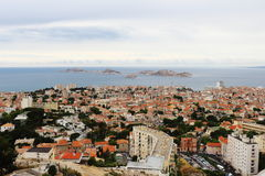 View from Notre Dame de la Garde at Mediterranean, Marseille Royalty Free Stock Photo