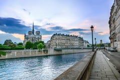 Paris. View of Notre dame de Paris stock images