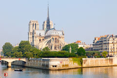 View on Notre Dame de Paris. At morning Stock Images