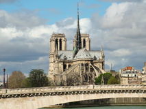 View of Notre Dame de Paris and the bridge de la Turnel Stock Images