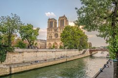 Notre Dame. View of the Notre Dame de Paris cathedral in France Stock Photography