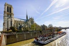 View of Notre Dame de Paris. Panoramic view of Notre Dame de Paris Stock Images