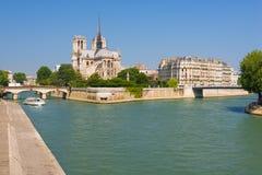 View on Notre Dame de Paris Royalty Free Stock Image