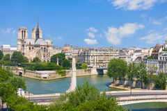 View of Notre Dame de Paris Royalty Free Stock Images