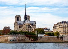 View of the Notre dame in Paris Royalty Free Stock Photos