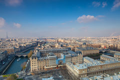 View from Notre Dame of Paris Stock Photography