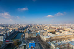 View from Notre Dame of Paris Stock Photos