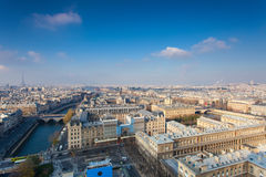 View from Notre Dame of Paris Royalty Free Stock Images