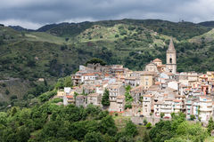 View at Novara di Sicilia, mountain village of Sicily Royalty Free Stock Photography