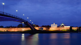 View on Novgorod Kremlin at night Stock Photos
