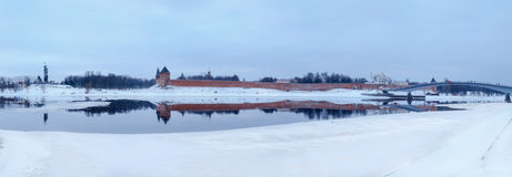 View of the Novgorod Kremlin in winter Royalty Free Stock Photography