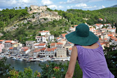 View of Novigrad fishing town, Croatia Royalty Free Stock Photo