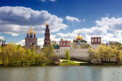 View of the Novodevichy Convent in Moscow Stock Photos