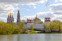 View of the Novodevichy Convent in Moscow Stock Photography
