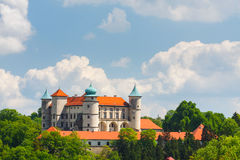 View of Nowy Wisnicz castle Royalty Free Stock Photography