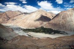 View of Nubra valley and Karakoram - Ladakh Stock Image