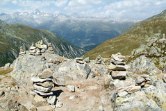 View on Nufenen pass Royalty Free Stock Photo