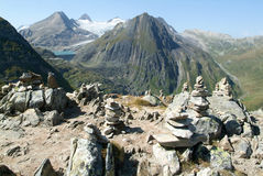 View on Nufenen pass Royalty Free Stock Photos