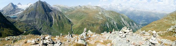 View on Nufenen pass Stock Images