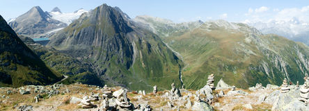 View on Nufenen pass Royalty Free Stock Photography