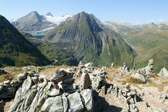 View on Nufenen pass Royalty Free Stock Image