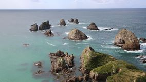 View from Nugget Point stock video footage