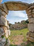 A view of nuragic complex of Palmavera. A view of nuragic village of Palmavera in north-west Sardinia Stock Photos
