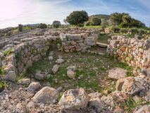 A view of nuragic complex of Palmavera. A view of nuragic village of Palmavera in north-west Sardinia Stock Photography