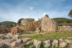 A view of nuragic complex of Palmavera. A view of nuragic village of Palmavera in north-west Sardinia Royalty Free Stock Image