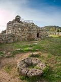 A view of nuragic complex of Palmavera. A view of nuragic village of Palmavera in north-west Sardinia Royalty Free Stock Images